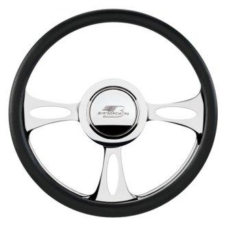 Billet Specialties® - Standard Series Fast Lane Style Steering Wheel with Polished Spokes