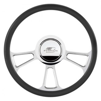 Billet Specialties® - Standard Series Vintec Style Steering Wheel with Polished Spokes