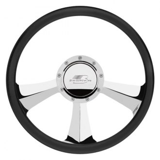 "Billet Specialties® - 14"" Standard Series Rival Style Steering Wheel with Polished Spokes"