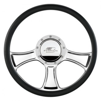 Billet Specialties® - Standard Series Chicayne Style Steering Wheel with Polished Spokes