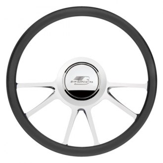 "Billet Specialties® - 14"" Standard Series Edge Style Steering Wheel with Polished Spokes"