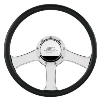 "Billet Specialties® - 14"" Standard Series Anthem Style Steering Wheel with Polished Spokes"