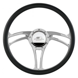 Billet Specialties® - 3-Spoke Standard Series BLVD 05 Style Steering Wheel