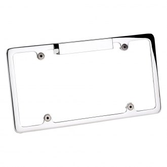 Billet Specialties® - Polished License Plate Frame with Light