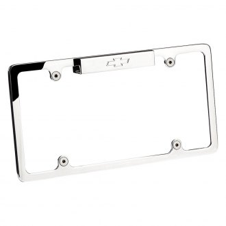 Billet Specialties® - Polished License Plate Frame with Chevrolet Emblem and Light