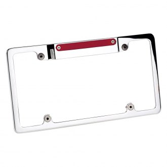 Billet Specialties® - Polished License Plate Frame with 3rd Brake Light