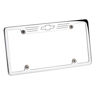 Billet Specialties® - Polished License Plate Frame with Chevrolet Emblem