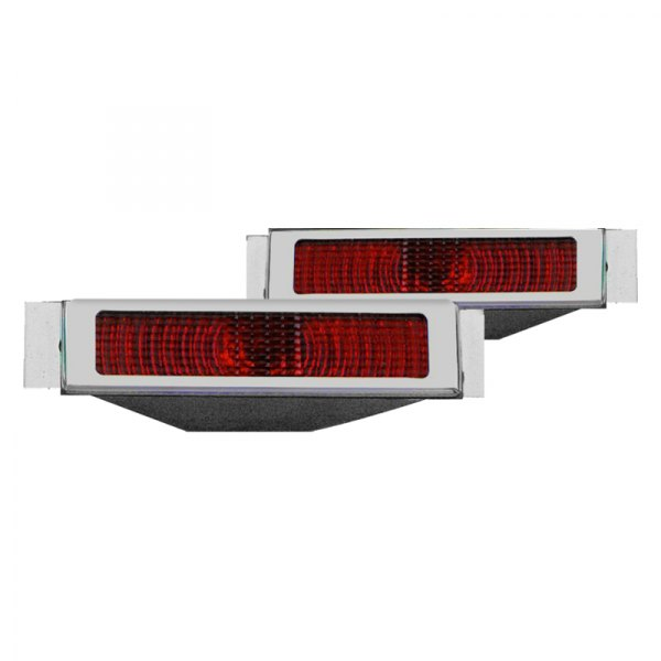 Billet Specialties® - Chrome/Red Open Style LED Tail Lights