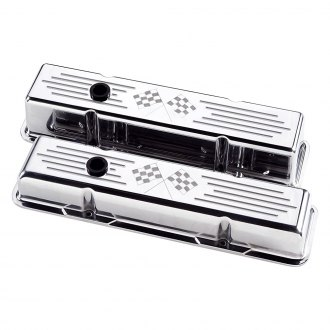 Billet Specialties® - Short Cross Flags Style Valve Covers