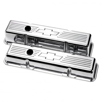 Billet Specialties® - Polished Tall Chevy Bowtie Style Valve Covers