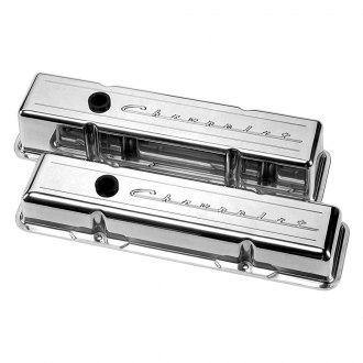 Billet Specialties® - Polished Tall Chevrolet Script Style Valve Covers