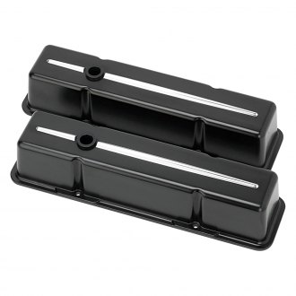 Billet Specialties® - Satin Black Tall Streamline Style Valve Covers