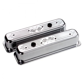Billet Specialties® - Tall Cross Flags Style Center Bolt Valve Covers