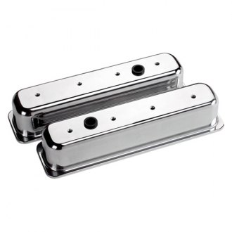 Billet Specialties® - Tall Plain Style Center Bolt Valve Covers