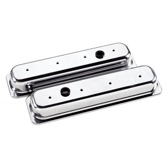 Billet Specialties® - Short Plain Style Center Bolt Valve Covers