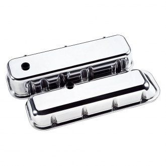 Billet Specialties® - Tall Cross Flags Style Valve Covers