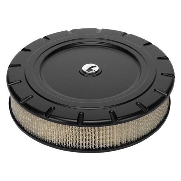 Billet Air Cleaner : Billet specialties blk round white aluminum black