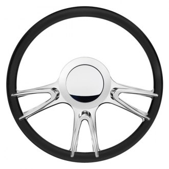 "Billet Specialties® - 14"" Profile Collection Series Fury Style Steering Wheel with Polished Spokes"
