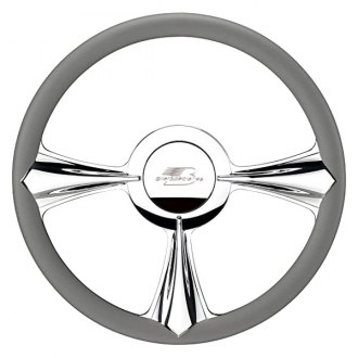 "Billet Specialties® - 14"" Profile Collection Series Stiletto Style Steering Wheel with Polished Spokes"
