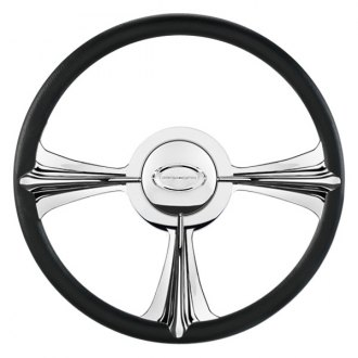 "Billet Specialties® - 14"" Profile Collection Series Rail Style Steering Wheel with Polished Spokes"