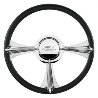 "Billet Specialties® - 14"" Profile Collection Series Rat Tail Style Steering Wheel with Polished Spokes"