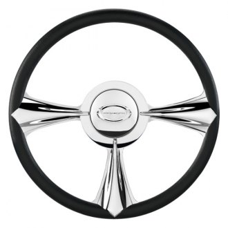 "Billet Specialties® - 15.5"" Profile Collection Series Stiletto Style Steering Wheel with Polished Spokes"