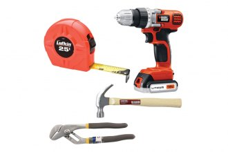 Black & Decker® - DIY Kit With Drill, Hammer, Pliers and Tape Measure