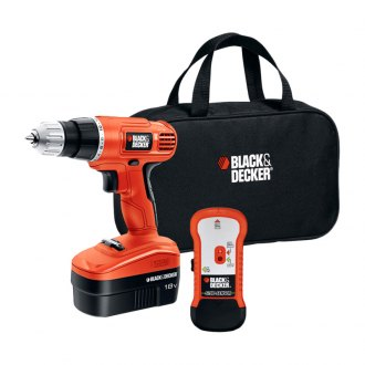 Black & Decker® - 18V Cordless Drill With Stud Sensor and Storage Bag