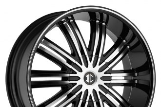 "BLACK DIAMOND® - NO.7 Gloss Black with Machined Face and Stripe (24"" x 10"", +15 Offset, 5x114.3 Bolt Pattern, 78.3mm Hub)"