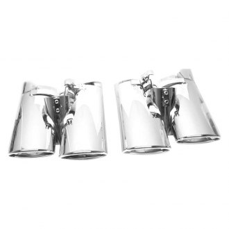 Black Horse® - Polished Stainless Steel Angle Cut Dual Tips