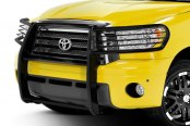 Image may not reflect your exact vehicle! Black Horse® - Modular Black Powdercoat Grille Guard - Installed