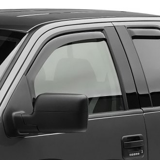 Black Horse® - In-Channel Smoke Front and Rear Rain Guards