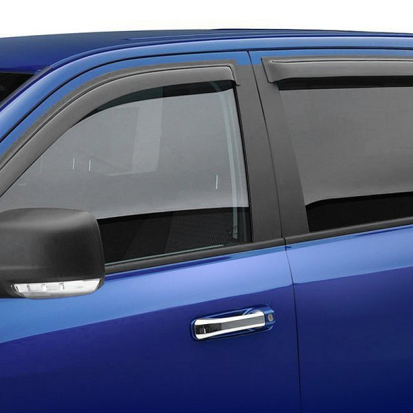 Image may not reflect your exact vehicle! Black Horse® - Tape-On Smoke Rain Guards