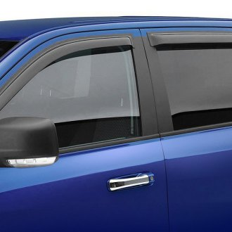 Black Horse® - Tape-On Smoke Front and Rear Rain Guards