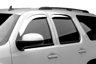 Black Horse® - Off-Road Chrome Rain Guards