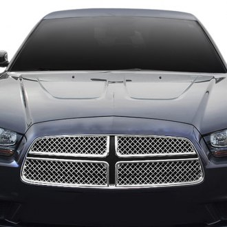 Black Horse® - 4-Pc Chrome Mesh Main Grille