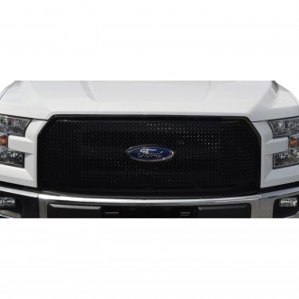 Black Horse® - 1-Pc Black Mesh Main Grille