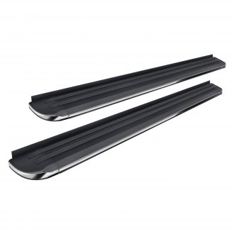 "Black Horse® - 5.5"" Exceed Series Black with Chrome Trim Running Boards"