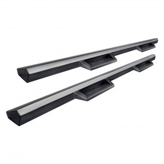 Black Horse® - Impact Cab Length Gray Side Steps