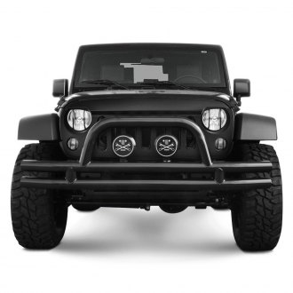 Black Mountain® - Full Width Front Double Tubular Bumper with Hoop