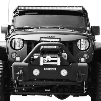 Black Mountain® - 1-Pc Angry Eyes Style Matte Black Main Grille