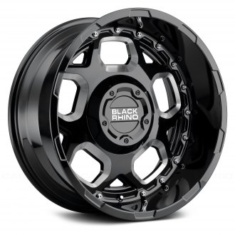 BLACK RHINO® - GUSSET Gloss Black with Milled Spokes