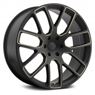 BLACK RHINO® - KUNENE Matte Black with Dark Tint Milled Spokes