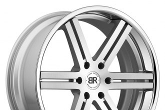 "BLACK RHINO® - LETABA Silver with Brushed Face and SS Lip (20"" x 9"", +15 Offset, 6x139.7 Bolt Pattern, 112mm Hub)"