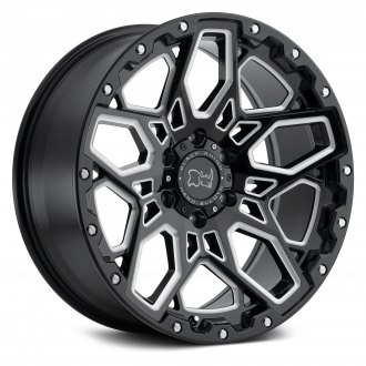 BLACK RHINO® - SHRAPNEL Gloss Black with Milled Spokes