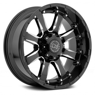 BLACK RHINO® - SIERRA Gloss Black with Milled Spokes
