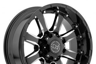 "BLACK RHINO® - SIERRA Gloss Black with Milled Spokes (18"" x 9"", +12 Offset, 6x139.7 Bolt Pattern, 112mm Hub)"