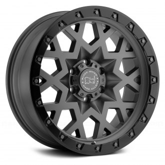 BLACK RHINO® - SPROCKET Matte Gunmetal with Black Lip Edge