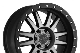 "BLACK RHINO® - TANAY Matte Black with Machined Face and Dark Tint (17"" x 9"", -12 Offset, 5x127 Bolt Pattern, 78.1mm Hub)"
