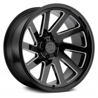 BLACK RHINO® - THRUST Gloss Black with Milled Spokes